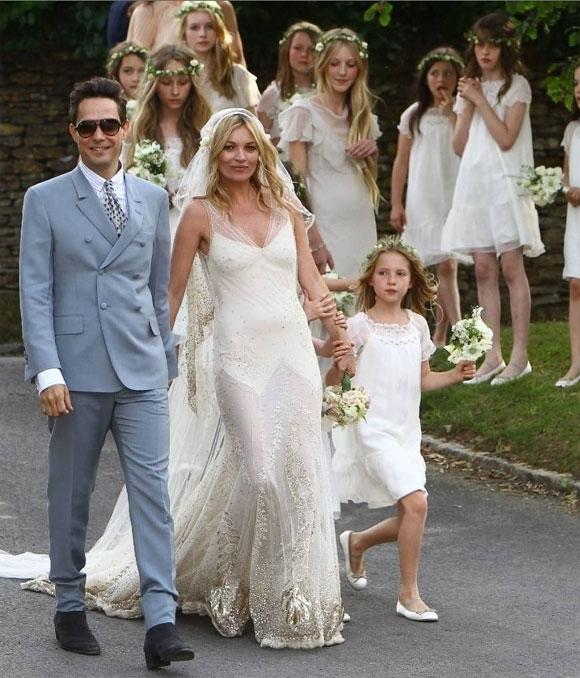 ケイトモスの結婚式写真