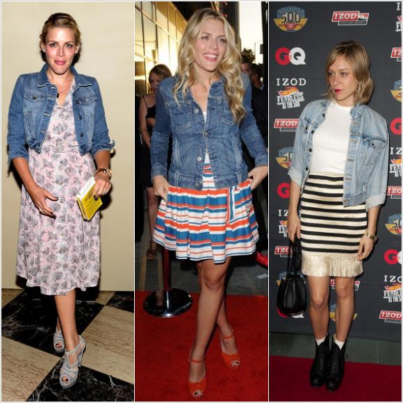 セレブファッション:デニムジャケットスタイル