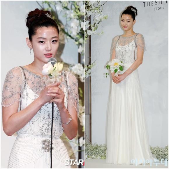 韓国女優チョン・ジヒョンの結婚式の画像